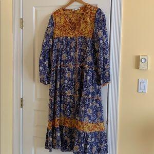 Zara boho maxi dress
